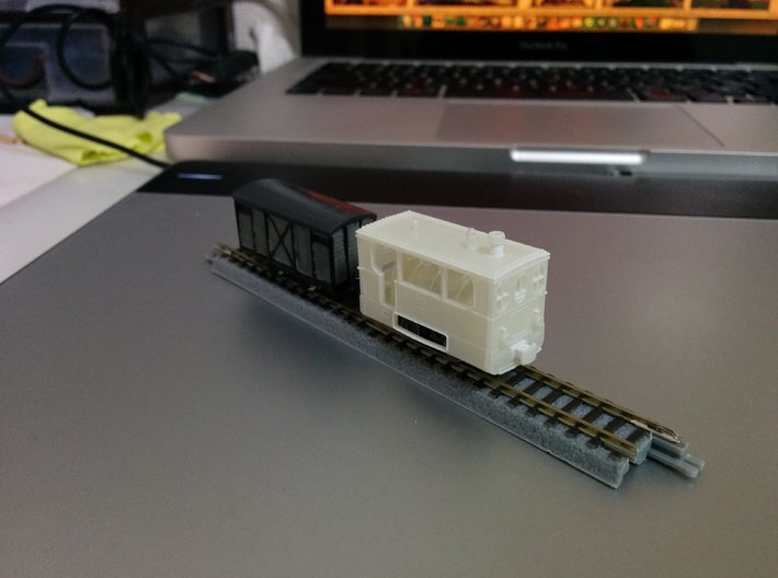 Hohenzollern Tramway locomotive 3d printed Cleaned and assembled model