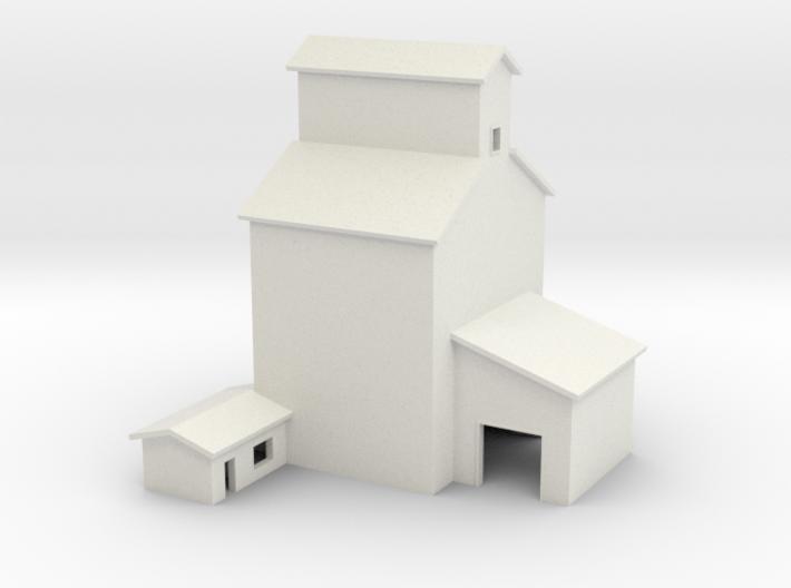T-gauge grain elevator (1:450) 3d printed
