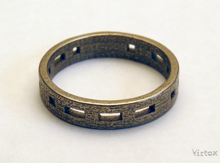 Morse code ring (Customized) 3d printed