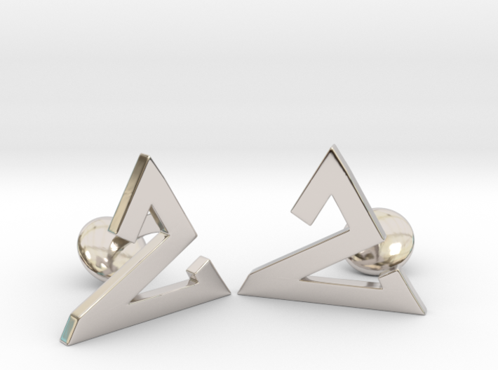 Delta One Cufflinks 3d printed