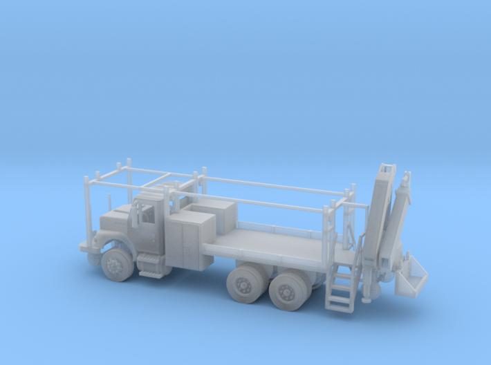 MOW Rail Truck 2 Door Cab W Hiab Hoist 1-87 HO Sca 3d printed