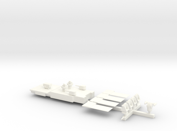 1/500 Scale Revell Long Beach Model Upgrades 3d printed