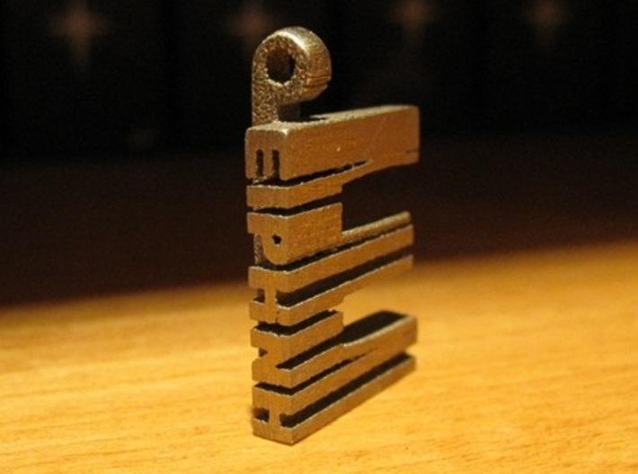 Hidden Name Pendant 3d printed