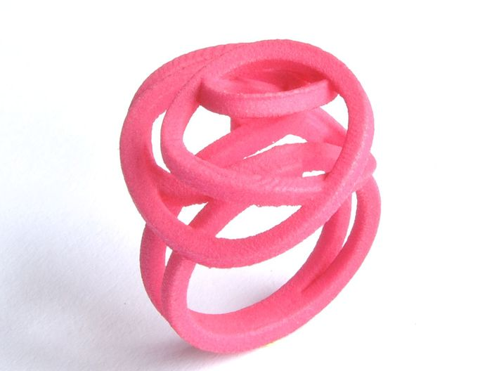 Ring Love is in the Air Medium (from $16) 3d printed Silver Ring  Air Love pink