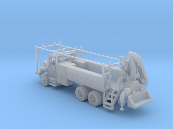 MOW Rail Truck 2 Door Cab W Hiab Hoist Full Cabine 3d printed