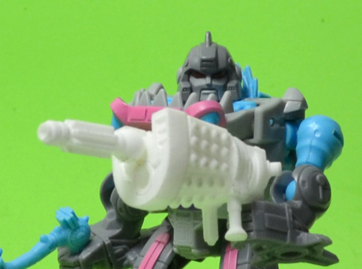 Assault Shaker Transforming Weaponoid Kit (5mm) 3d printed White strong and flexible print in gun mode.