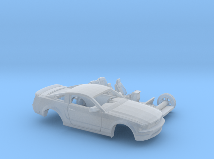 1/87 2007 Ford Mustang Stock Version 2 Piece Kit 3d printed