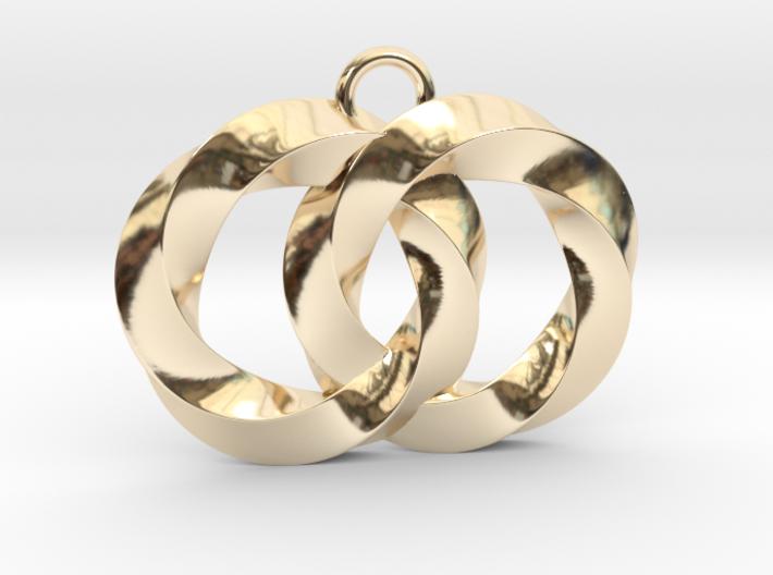 Twisting Planets Pendant  3d printed