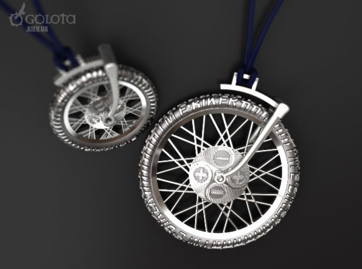 Ebiker Rotate Pendant small 3d printed A big one