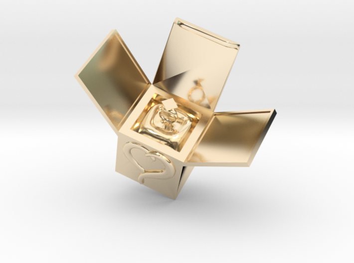 Box Ring Jewelry (Bigger Size) 3d printed