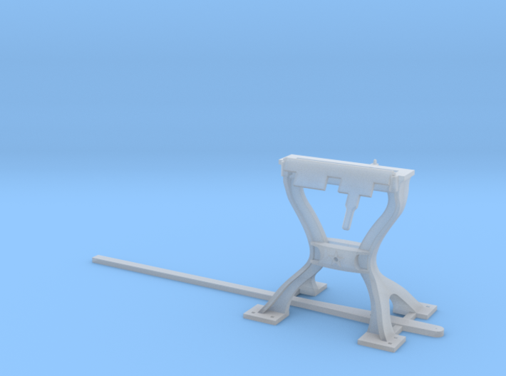 Harp Switch Stand - Flat top with 4 legs, O Scale 3d printed
