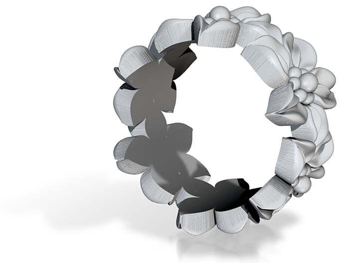 Flower Ring Size 9.5 3d printed