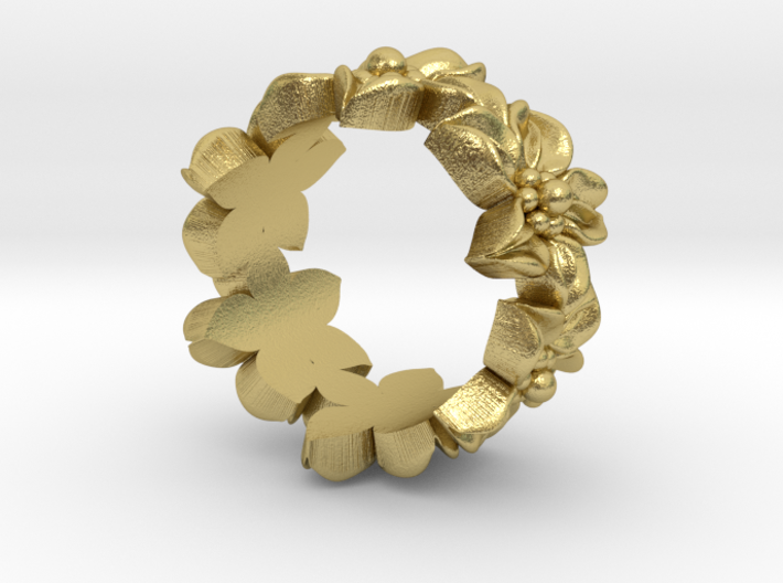 Flower Ring Size 4.5 3d printed