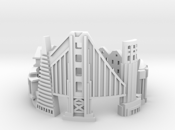 SanFrancisco 7 3d printed
