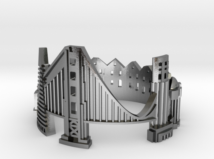 SanFrancisco Skyline - Cityscape Ring 3d printed