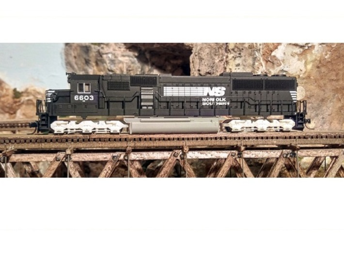 Atlas SD50/SD60/SD60M Dummy Chassis Kit - N Scale 3d printed Dummy SD50