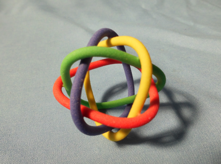 4 rings (fused) 3d printed