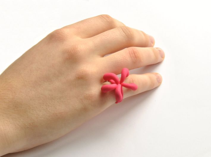 Water Drops Ring (From $19) 3d printed Water Drops Ring Nylon