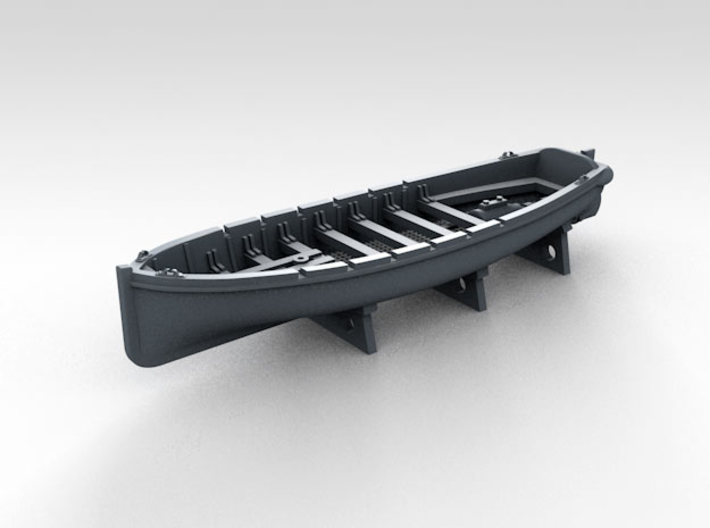 1/600 WW2 RN Boat Set 4 Without Mounts 3d printed 36ft Motor Pinnace Mounts NOT Included
