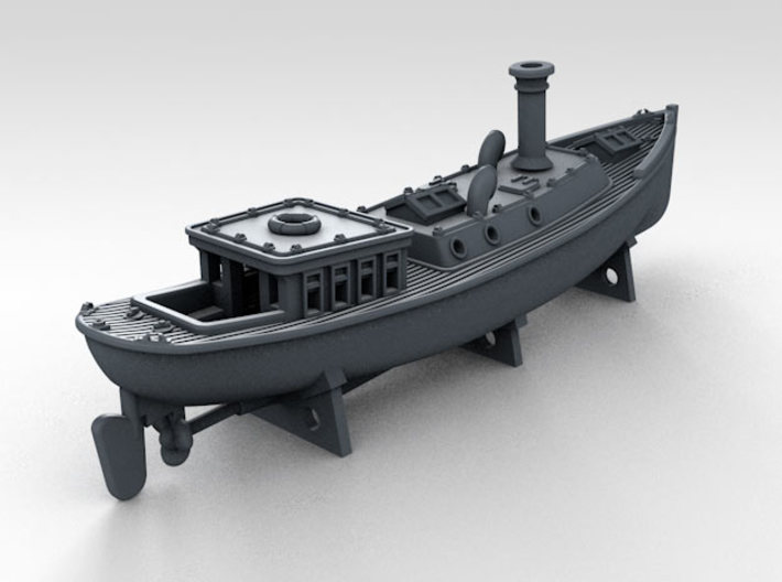 1/500 WW2 RN Boat Set 4 Without Mounts 3d printed 45ft Admirals Barge Mounts NOT Included