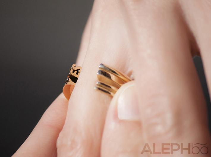 L Ring 3d printed