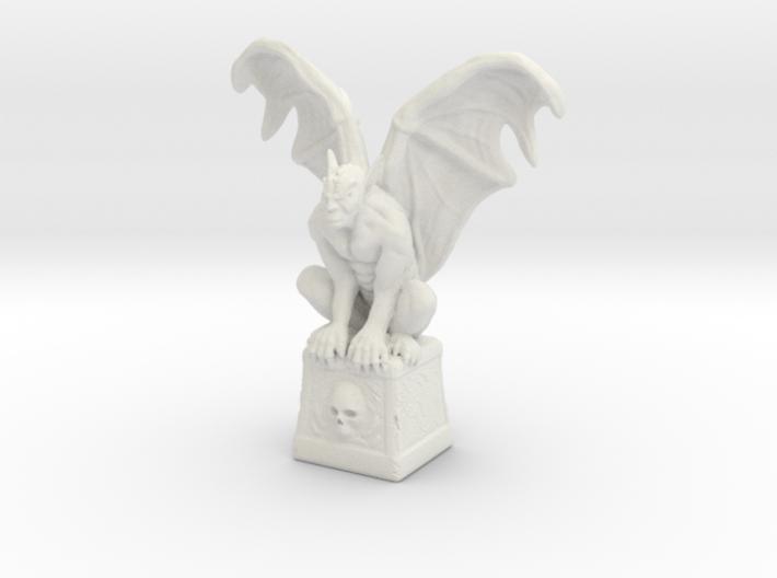 Gargoyle On Cube 100mm 3d printed