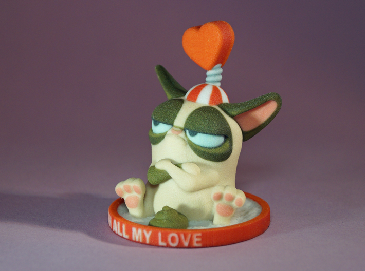 My Grumpy Valentine Custom Message 3d printed