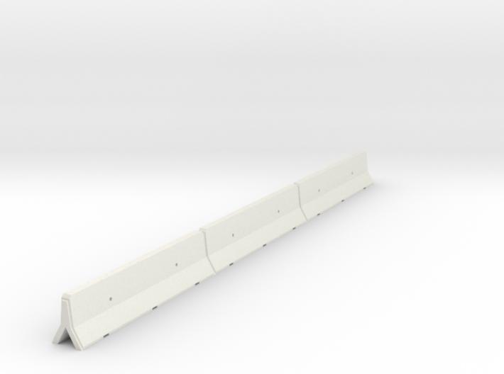 OO Scale Concrete Motorway Barrier 12m long 3d printed