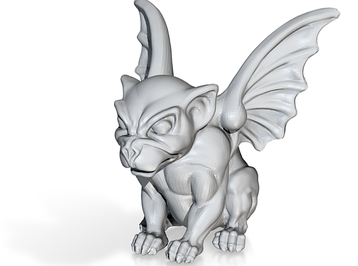 Cute Dog-like Gargoyle Statue 3d printed