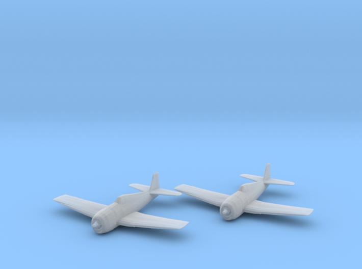 Grumman F6F-5 'Hellcat' 1:200 x2 3d printed