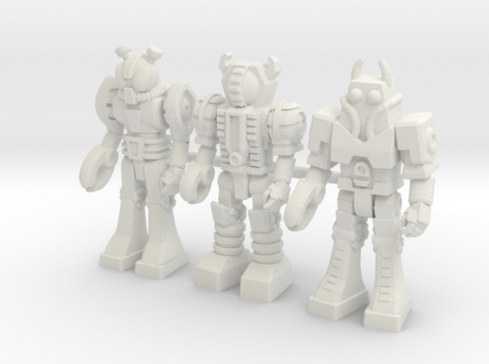 Waruders at Attention, 3 35mm Minis 3d printed