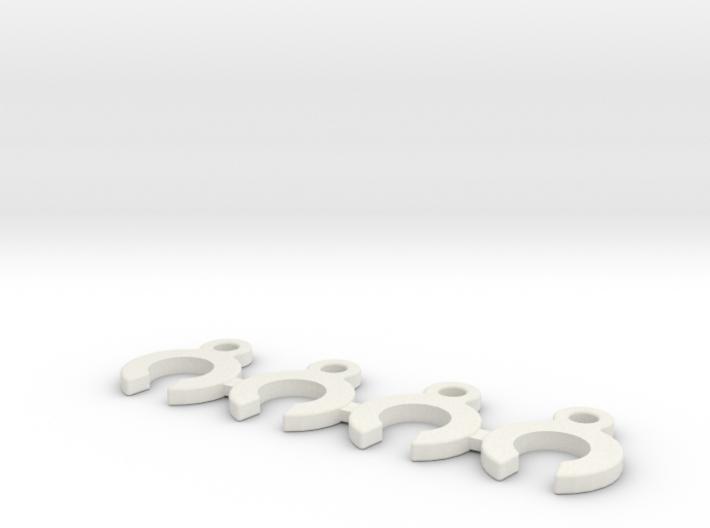 CRC WTF-1 Caster Clip Set 3d printed