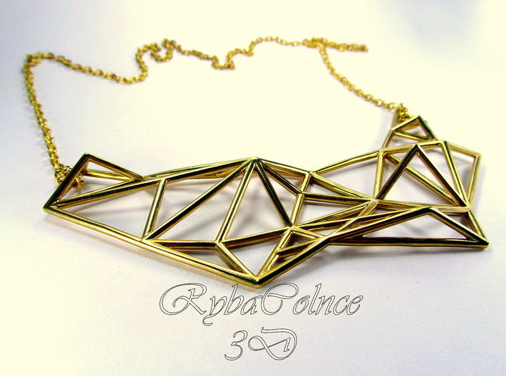 Necklace the Polygon 3d printed
