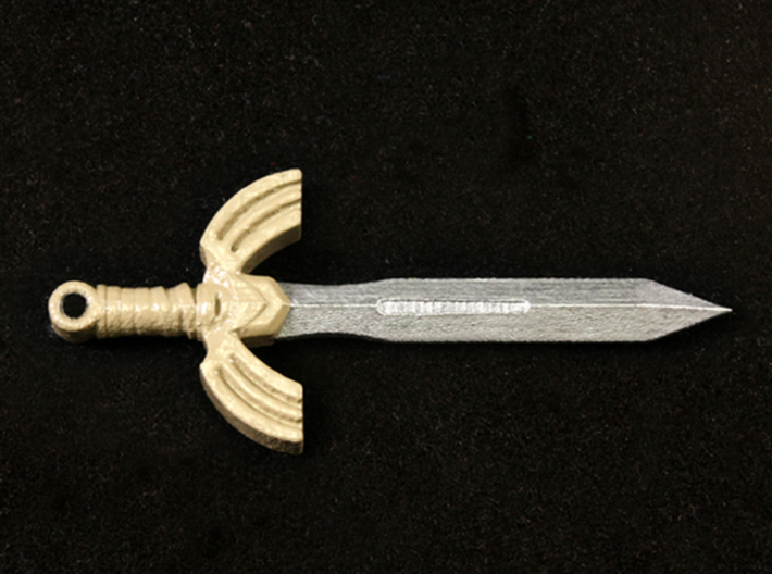 Seashell Sword 3d printed Painted Frosted Ultra Detail