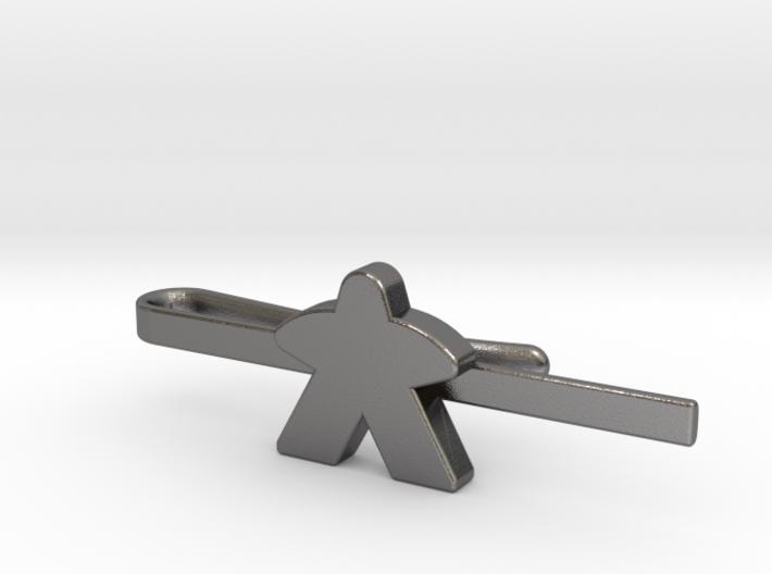 Meeple Tie Clip 3d printed
