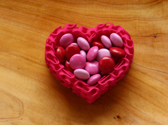 Gyroid Heart Bowl Mini 3d printed The perfect bowl for a sweet gift