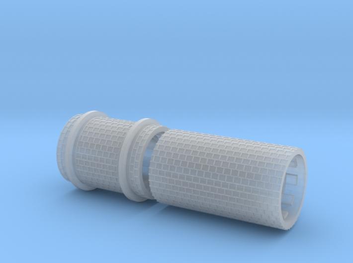 SET Row paving fine w/ border and girder rail (H0) 3d printed