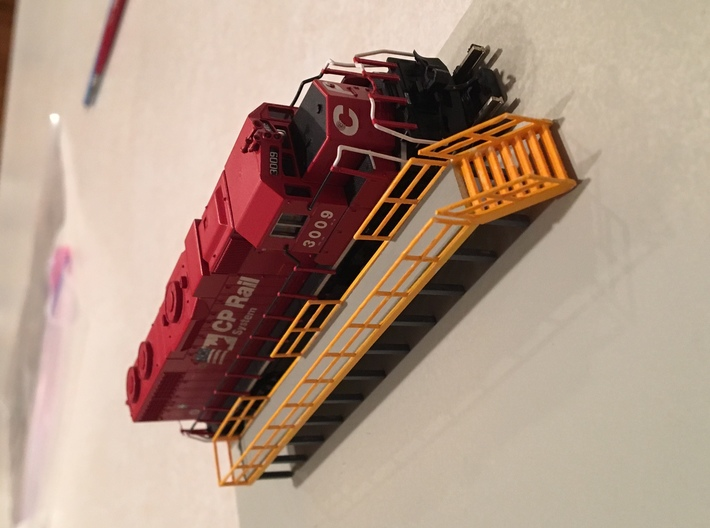 'N Scale' - 5' wide x 50' long Engine Service Plat 3d printed