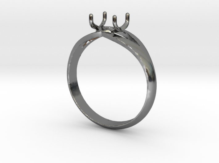 Solitaire Ring 3d printed