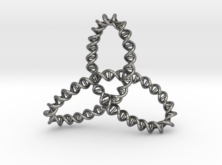 DNA Trinity Knot Pendant 3d printed DNA Trinity Knot