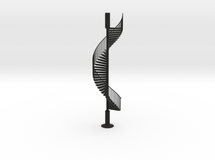 Spiral Stairs scale model sculpture 3d printed