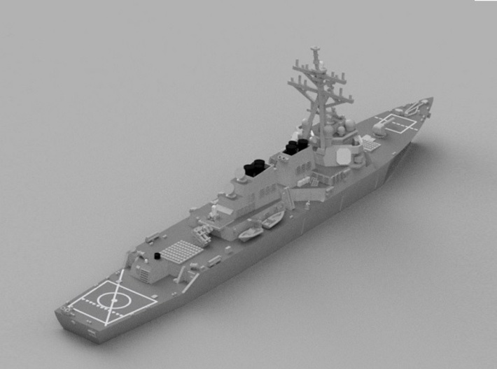 1/2000 USS John Paul Jones 3d printed Computer software render.The actual model is not full color.