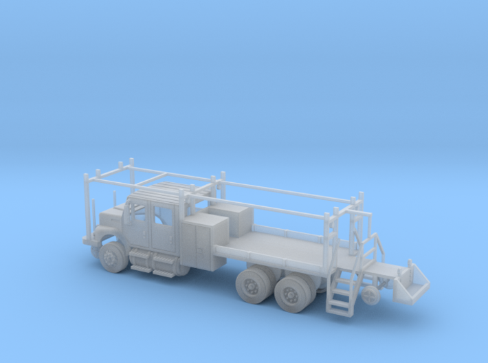 MOW Rail Truck 4 Door Cab Open 1-87 HO Scale 3d printed