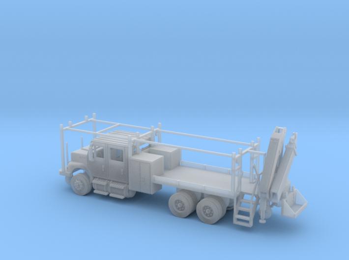 MOW Rail Truck 4 Door Cab W Hiab Hoist 1-87 HO Sca 3d printed