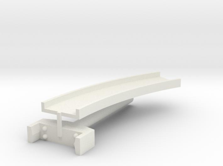 T-gauge curved bridge 132 mm 3d printed
