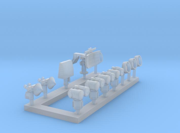 1:200 Scale Modern CVN Radars 3d printed