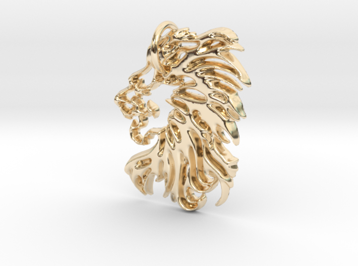 Lions head Keychain 3d printed