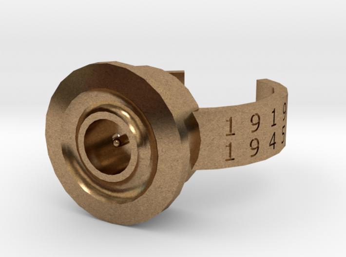 8x51mmR Lebel WW1 and 2 memorial ring 3d printed