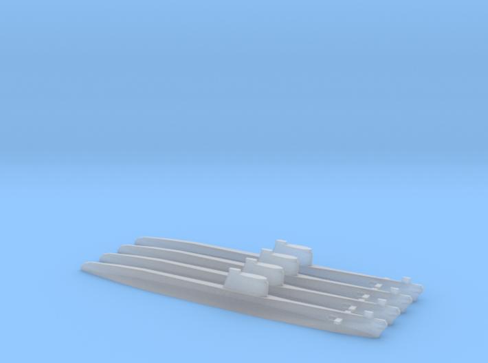 Foxtrot-class submarine x 4, 1/2400 3d printed