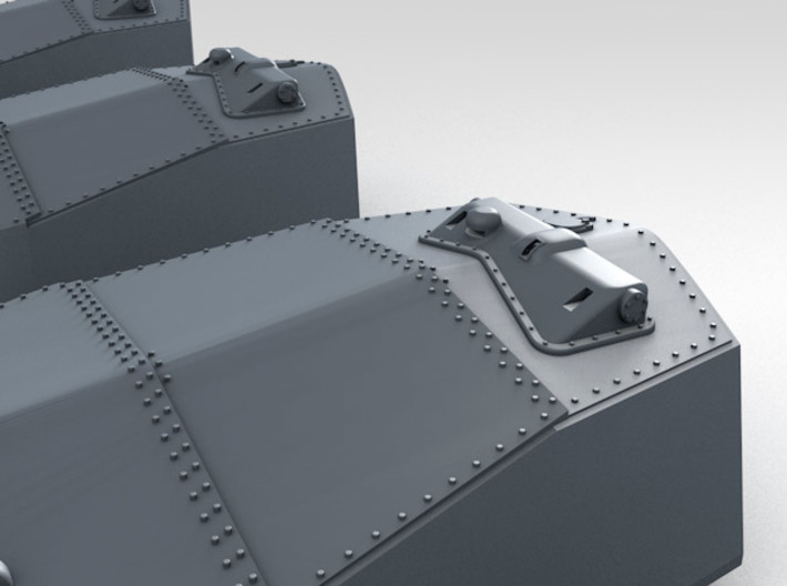"1/600 RN WW1 13.5"" MKV Guns x5 HMS Iron Duke 3d printed 3d render showing rangefinder detail"